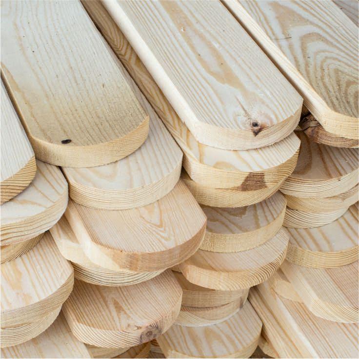 drewniane sztachety