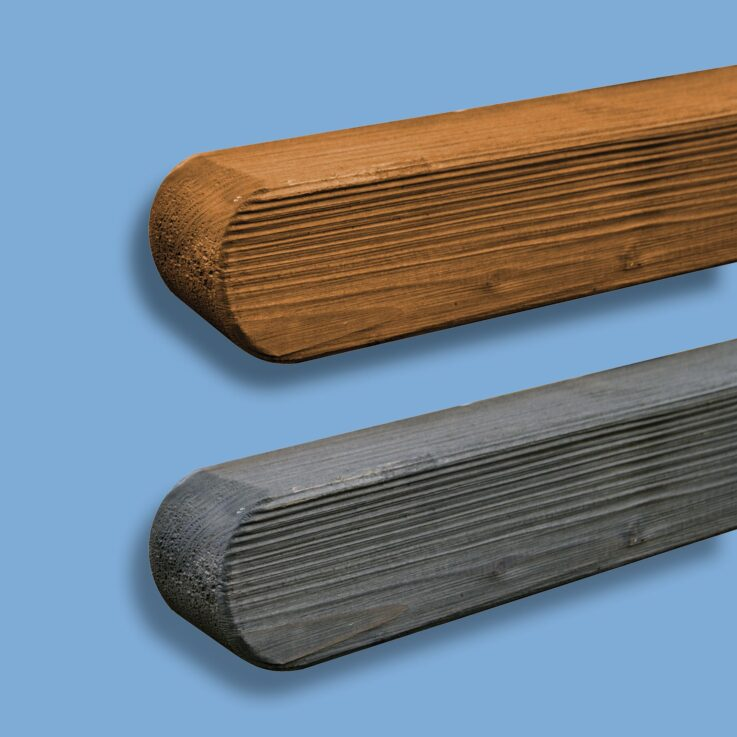 słupki ogrodzeniowe drewniane
