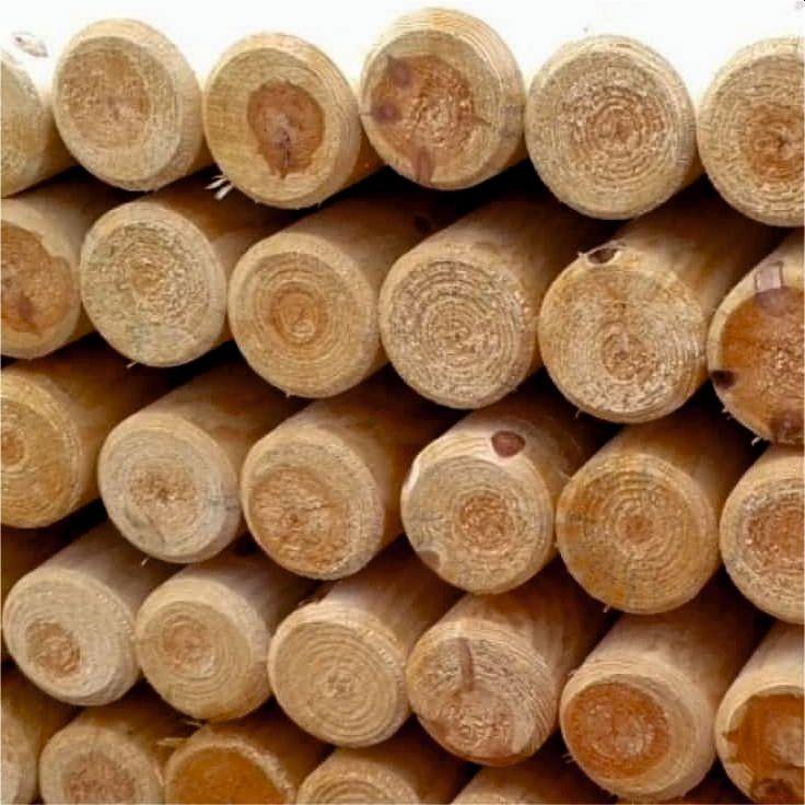 wałki ogrodowe drewniane